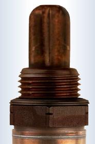 oxygen sensor contaminated into dark brown