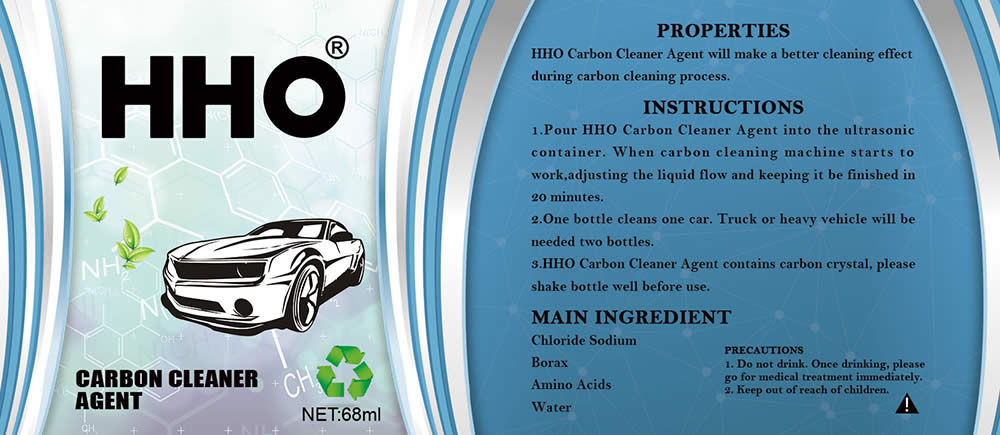 hho carbon cleaner agent label