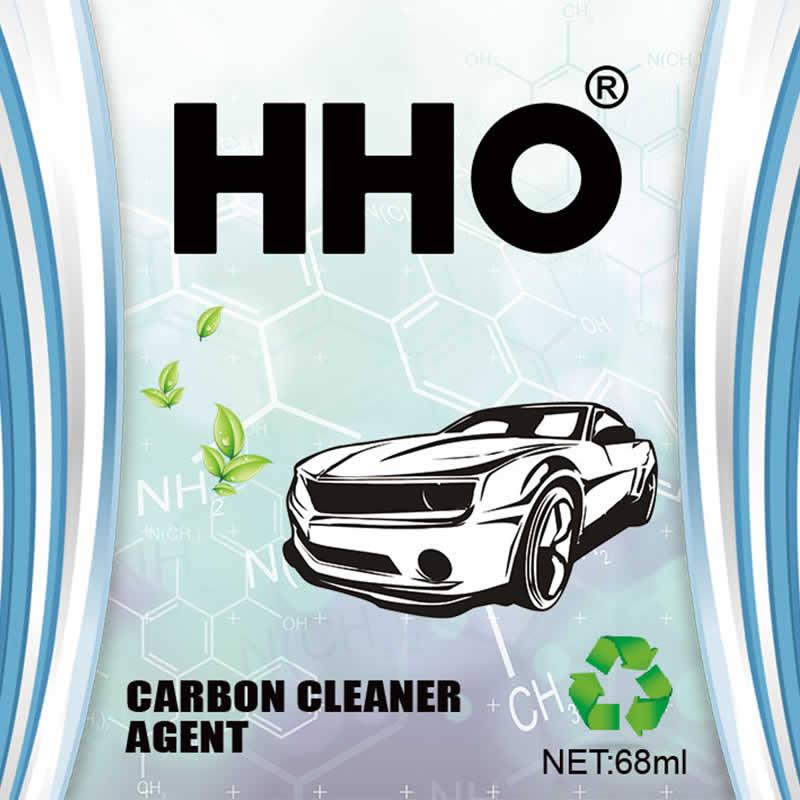 hho carbon cleaner bottle body front
